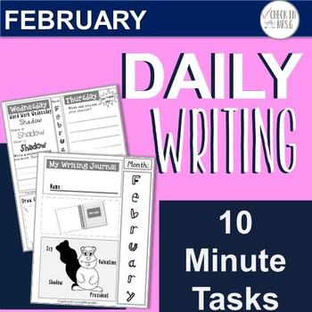 February Daily Writing Tasks