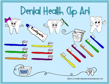 February Dental Health Clip Art (Graphics for Commercial Use)