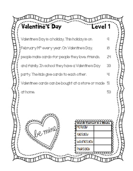 February Differentiated Fluency with Comprehension
