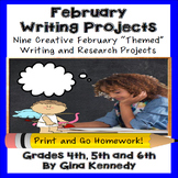 February Creative Writing Projects for Upper Elementary Projects