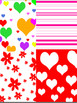 February Digital Background Clipart
