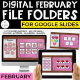 February Digital File Folders for Special Education