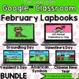 February Digital Interactive Notebook BUNDLE Google Classroom