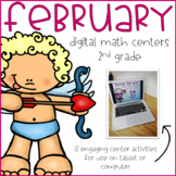 February Digital Math Centers 2nd Grade