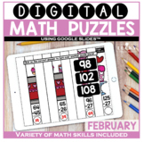 February Digital Math Puzzles
