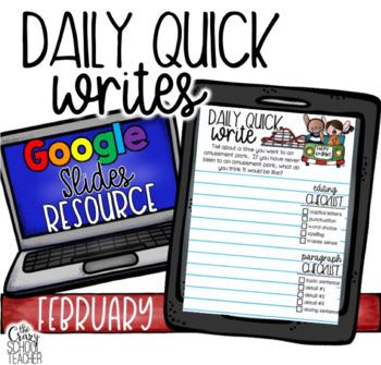 February Digital Quick Writes with Google Slides