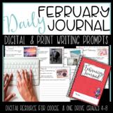 February Digital Writing Journal for  Google Drive or OneDrive
