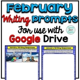 February Digital Writing Prompts for use with Google Slides