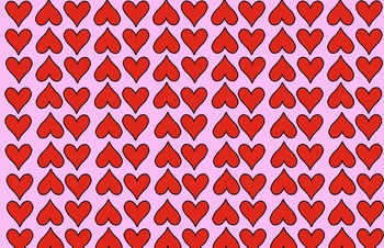 February & Valentine's Day Digital paper for Powerpoint, Slides and Projects