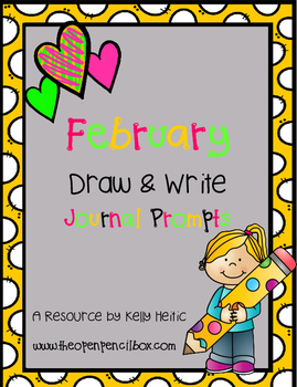 February Draw then Write Journal Prompts