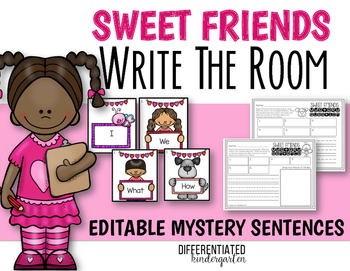 February EDITABLE Mystery Sentence Write The Room Fun
