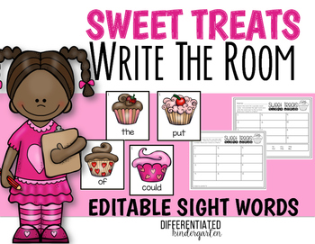 February EDITABLE Sight Word Write The Room Fun