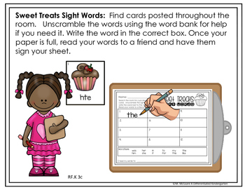 February EDITABLE Sight Word Write The Room Fun