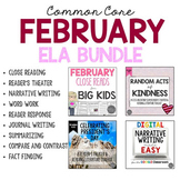 February ELA Bundle Common Core Aligned for Grades 4-6