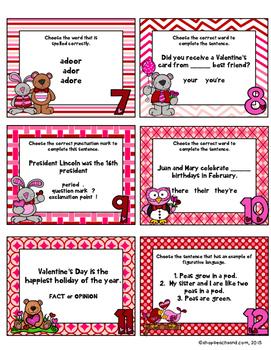 February ELA Skill Cards