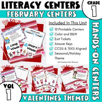 February Centers -- First Grade ELA