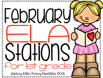 February ELA Stations for First Grade