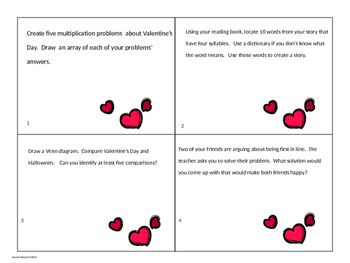 February Enrichment and Challenge Task Cards