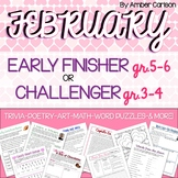 February Early Finisher or Challenger Packet Grades 3-6