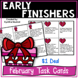 Early Finishers Task Card Activities for February {$1 Deal}