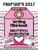 February Editable Writing Calendar and Booklet