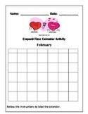 February Elapsed Time Calendar Activity