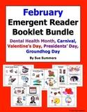 February Emergent Reader Booklet Bundle - 5 Sets of 2 Booklets