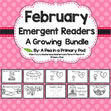 February Emergent Readers and Response Activities Growing Bundle