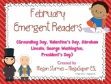 February Emergent Reader Mini-books (five readers)