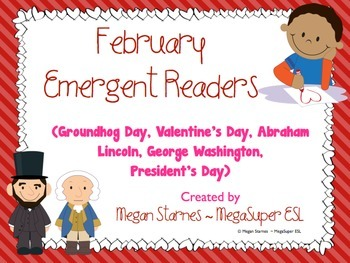 February Emergent Reader Mini-books (five readers)