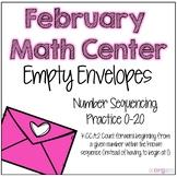 Number Sequencing Kindergarten February Math Center