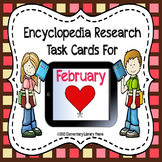 February Encyclopedia Research Task Cards with Self-Checking QR Codes