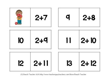 February Equivalent Equations Dominoes