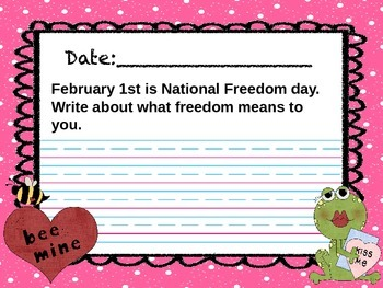 February Everyday Writing Journals Powerpoint