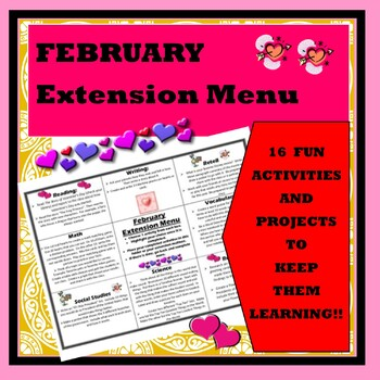 February Extension Menu w Common Core Standards