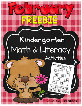 February FREEBIE Kindergarten Bundle Math & Literacy Preview - CCSS Aligned