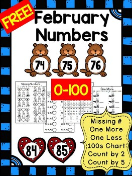 February FREEBIE - Numbers 0 to 100 Practice