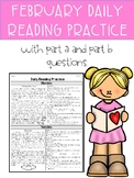 February FSA PARCC Style Daily Reading Practice