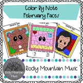 February Faces Color by Note