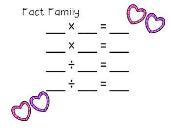February Fact Families for Multiplication and Division
