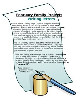 February Family Project