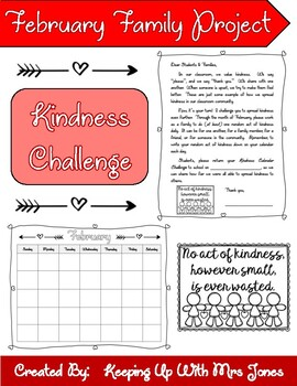 February Family Project - Kindness Calendar Challenge