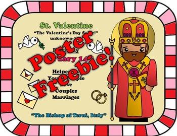 February Feast Day Catholic Saint Poster- Saint Valentine