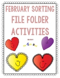 February File Folder Sort Activities