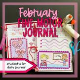 February Fine Motor Journal Handwriting Occupational Thera