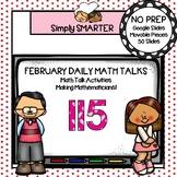 February First Grade Digital Daily Math Talks For GOOGLE SLIDES