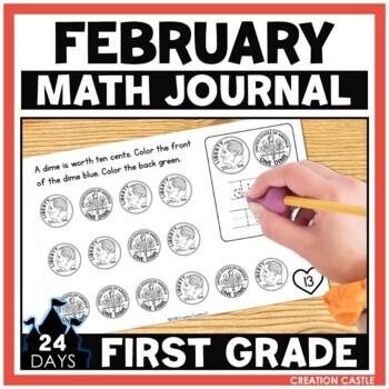 February First Grade Math Journal