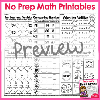 February First Grade Printables