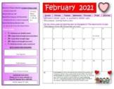 February Fitness Calendar 2018