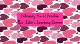 February Fix-It Freebie